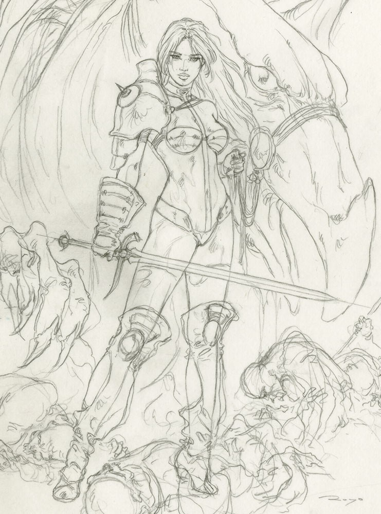 GROUP SKETCH SWORD AND FANTASY