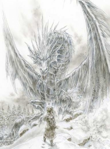 THE ICE DRAGON,  COVER SKETCH 2