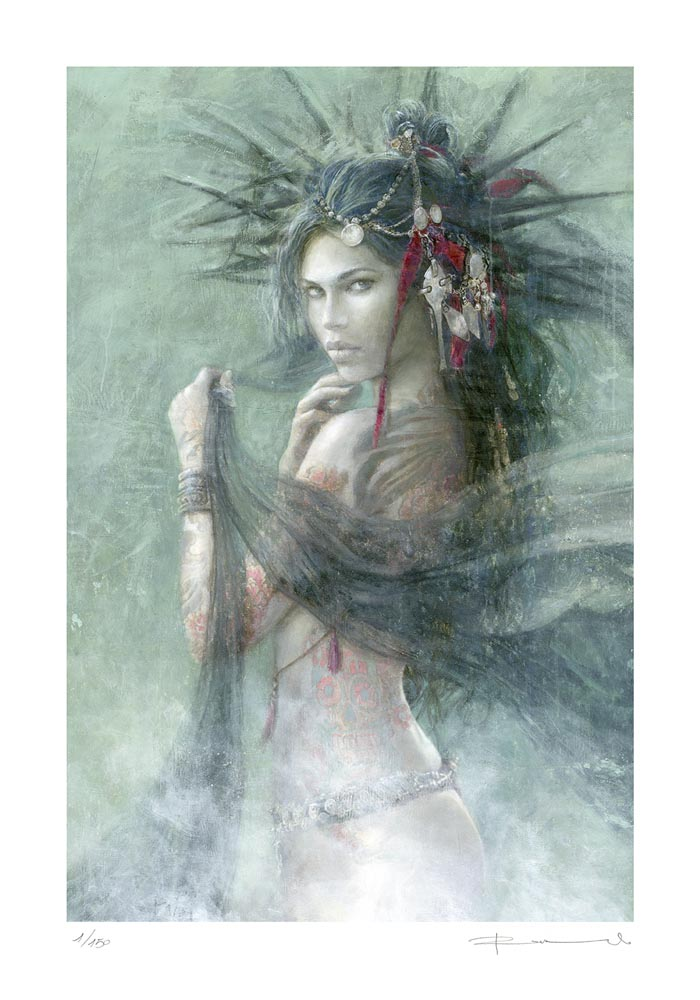 126LE_SKULL_AND_ROSES-Romulo_Royo-Limited_edition_Gallery_art_Laberinto_Gris-fantasy