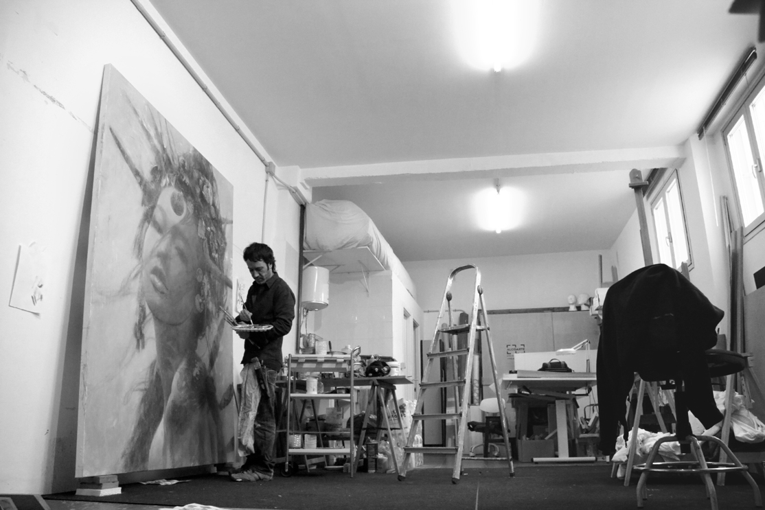 Romulo Royo in the Studio, preparing for ARCO 2016