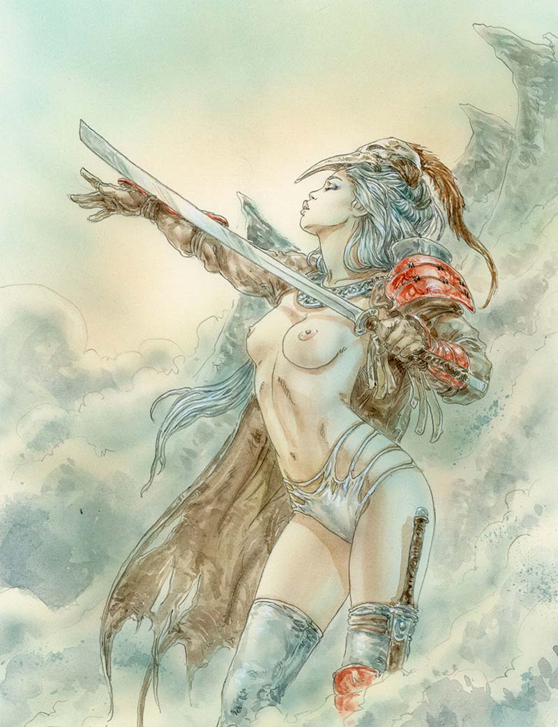 Luis-Royo-the-reason-disappeared-1-Laberinto-gris-gallery-art-contemporary-illustration