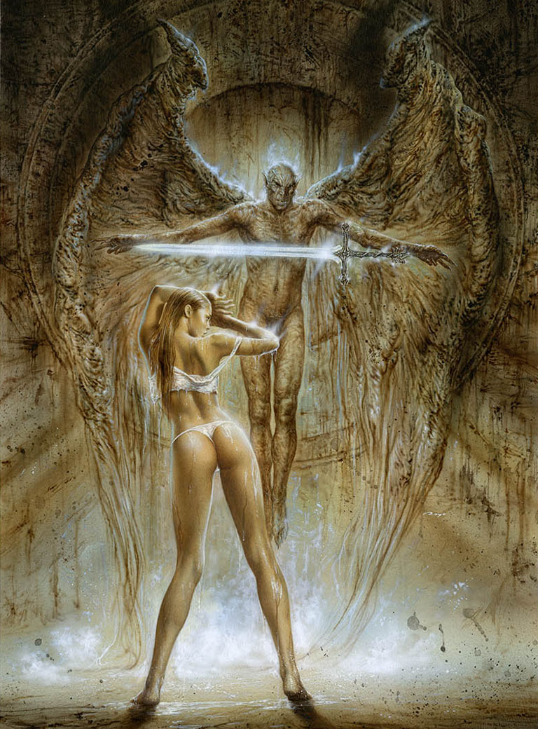 Luis_Royo_gallery_LABERINTO_GRIS_White_Line_Year_1999_Book_Evolution_fantasy