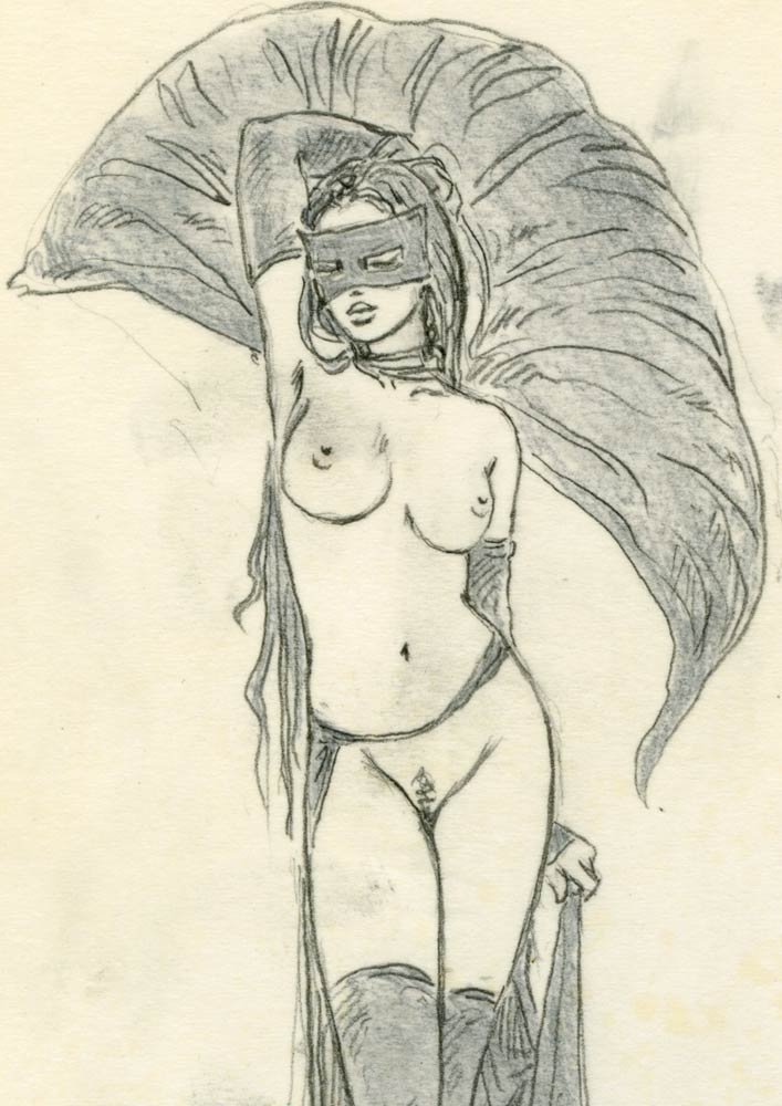LuisRoyo-Ref_PSK_SC_48-Serie_Preliminar_The_Game_of_Masks_I-Sketch-Erotic-sexy-Laberinto-Gris-Gallery-Illustration-Sado-drawing
