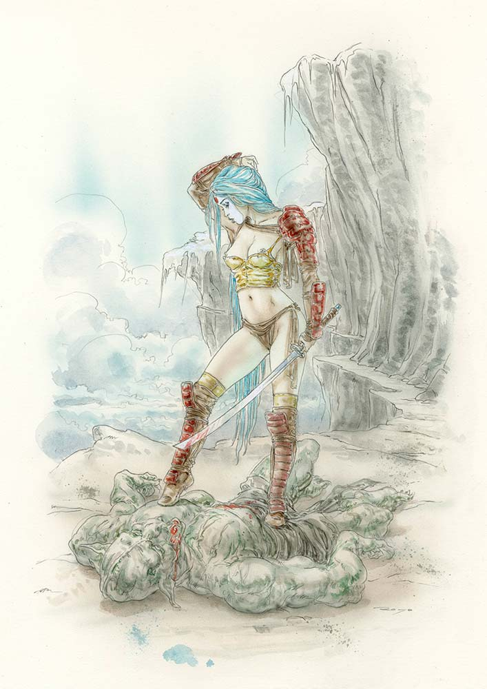 Luis-royo-erotic-girls-Laberinto-Gris-Gallery-Art-Reason_Disappeared_3-illustration