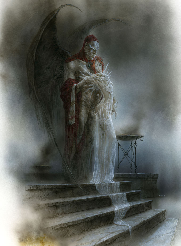 Luis_Royo_Title_Requien_Dreaming_in_the_Labyrinth_Erotic_Laberinto_Gris_gallery-painting_illustration