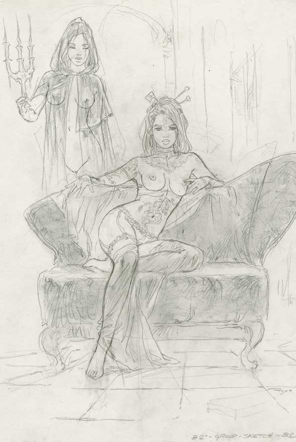 LUIS_ROYO_MALEFIC_TIME_LABERINTO_GRIS_GRAPHITE_DRAWING_NEW_CONCEPTIONS