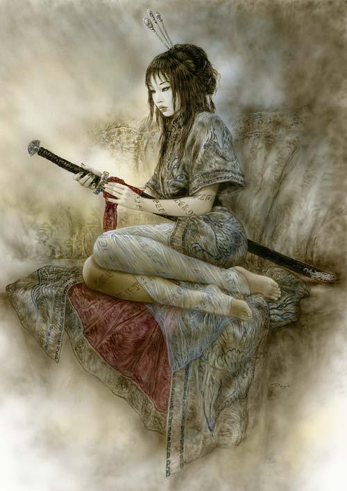 Luis_royo-Laberinto_Gris-Gallery-Art-illustration-sale-Erptic-oriental-Luna_y-Sombra