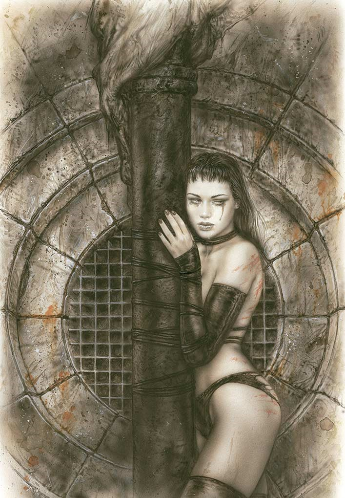 36LE-Luis_Royo-Limited_edition_Laberinto_Gris_Gallery_art-sales_Black_Friday_2020-fantasy-Illustration-graphic_work-Consciences_basement