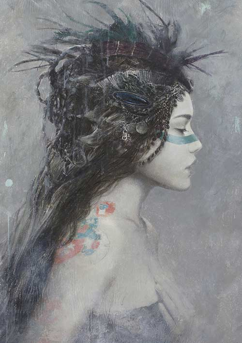 Romulo_royo_laberinto_gris_galeria_arte_fantasia_venta_arte_Ninki_pintura_arte_contemporaneo